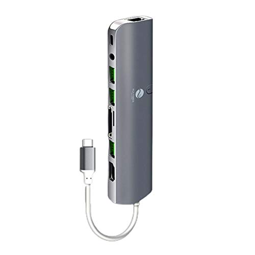 Logicstring Multifunktionale Typ-C- Zu Hdmi-Kompatible Dockingstation USB-C Tragbare Dockingstation 1080P Vg Usb3.0 Rj45-Anschluss