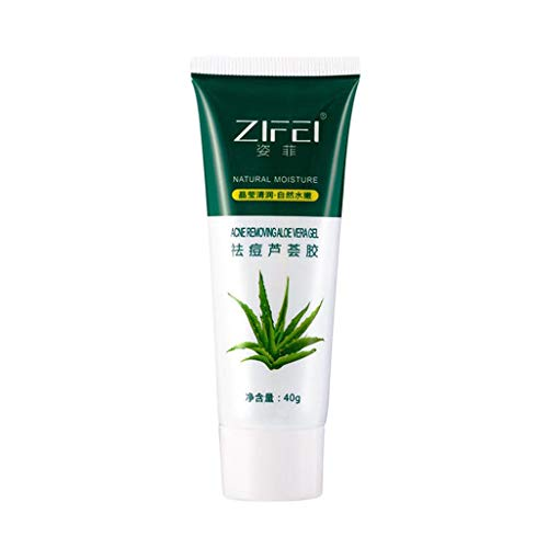 Aloe Vera Gel - Organic Aloe Vera Plant for Natural Skin Care, Pure Aloe Vera Gel Moisturizers Creams for Sunburn Relief, Aloe Gel is Best for Face, Hair, Skin Soothing Gel for Sunburn Relief 40ml