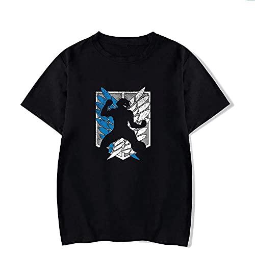 LYANXI Camisetas De Hombre De Verano Camisa De Polo -Tuttack En Titán Impresión 3D Casual Manga Corta Tops Tops Sudadera D-L