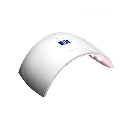 Appareil de photothérapie à ongles Sèche-vernis à ongles - Sèche-cheveux portatif pour source de lumière à double source de lumière UV LED UV Convient pour tous les vernis à ongles en gel