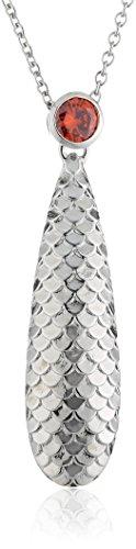 caï women Damen Halskette 925 Sterling Silber rhodiniert Zirkonia 45 cm orange C1402N/90/J5/45