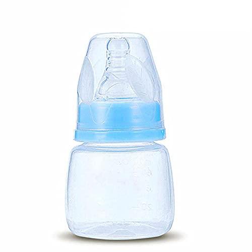 HUANGA Mini Botella de Lactancia de 60 ml, Botella de alimentación portátil para bebé recién Nacido, alimentador de Agua Potable Seguro para bebés, Botellas de Leche de Jugo de Fruta