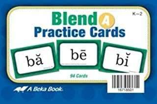 Blend Practive Cards A - Abeka Kindergarten 1st and 2nd Grade 1, 2 Phonics Reading Program Teaching Aid Flash Cards