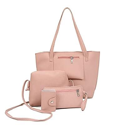 Amazon - Save 80%: Womens Bag Set Fashion 4Pcs Women Pattern Leather Handbag+Crossbody Bag+…