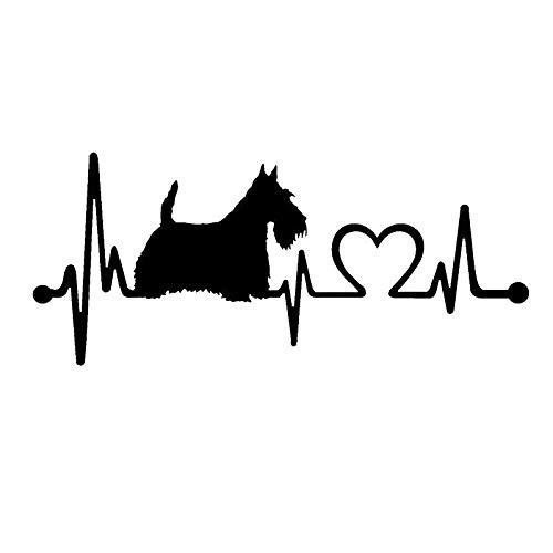 Pegatina Superficie Animales del Dibujo Animado Piezas de automóviles Heartbeat 17,8 * 7,7 cm A-JINGHUA (Color Name : Silver)