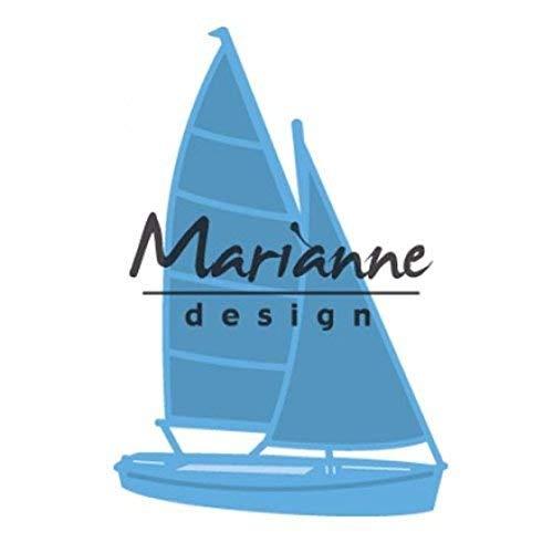 Stanz- und Prägeschablone - Marianne Design - Segelboot