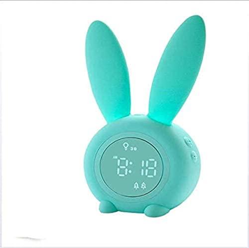 Reloj para niños, Relojes de Alarma para niños para niñas Dormitorio, luz Nocturna para niños, 5 Tonos de Llamada, Control táctil y Snoozing