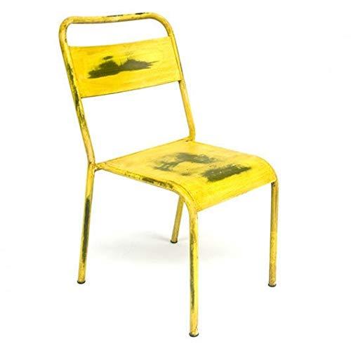 Rojas Mobiliario - Silla Aspa Amarillo Desgastado