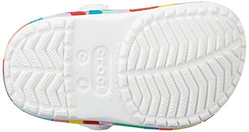 Crocs Crocband Chevron Beaded Clog K Unisex Niños Zoccoli, Blanco (White), 29/30 EU