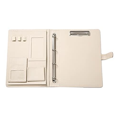 STOBOK Carpeta de piel sintética A4 para cuadernos de oficina o escuela