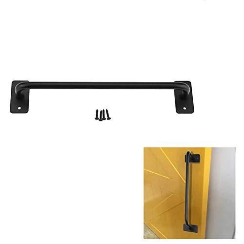 Ferro deur handvat barn schuifschuif deur pull van metaal zwart handvat retro gate onderkast lange kast hardware stijl landhuis 小号