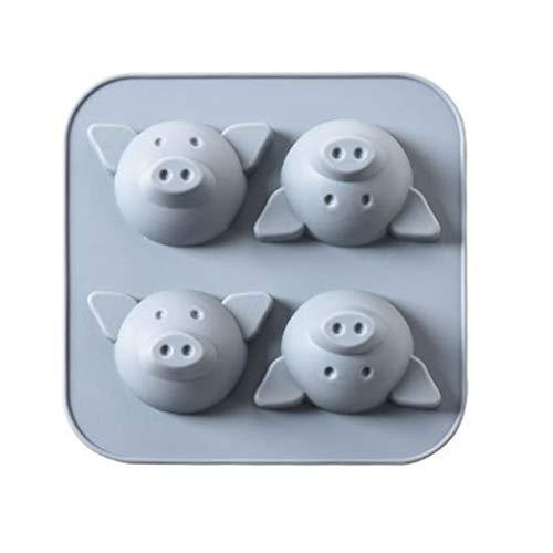 Zerama 4 Loch-Karikatur-Schwein Tier-Kuchen-Form Silica Gel-Form Bakeware Backen DIY Werkzeuge Zubehör Fondant