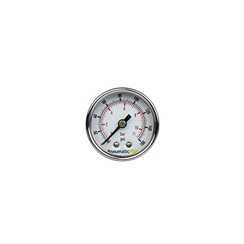 PneumaticPlus PSB15-160CP Air Pressure Gauge for Air Compressor WOG Water Oil Gas Chrome Plated 1-1/2