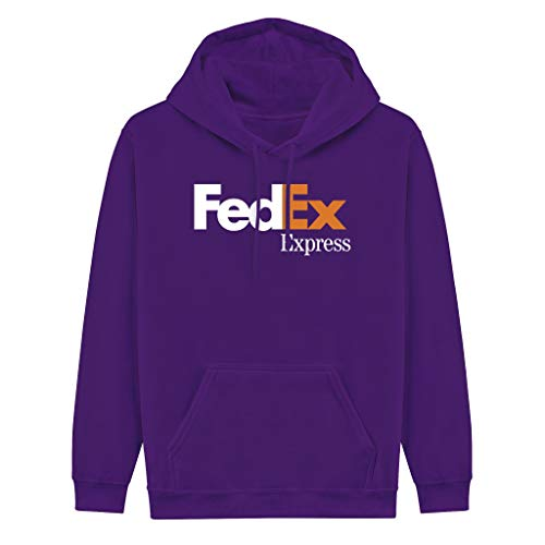 Gsknva Unisex Adult Pullover-FedEx-Express-White-Orange-Purple Hooded Sweatshirt 2XL Lightweight Crewneck Hoodie Cozy
