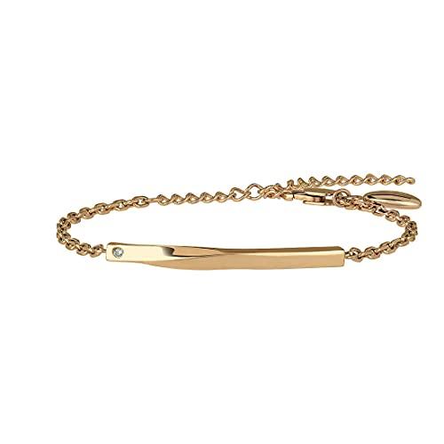 Joya Breil colección B Essential, pulsera de mujer de acero de color dorado, medida 21 cm con Crystal Jewelry, cód. TJ3008