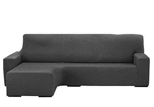 Martina Home Protection canapé avec Chaise Longue élastique Beirut, Gris, Bras Gauche Court de 240 à 280 cm