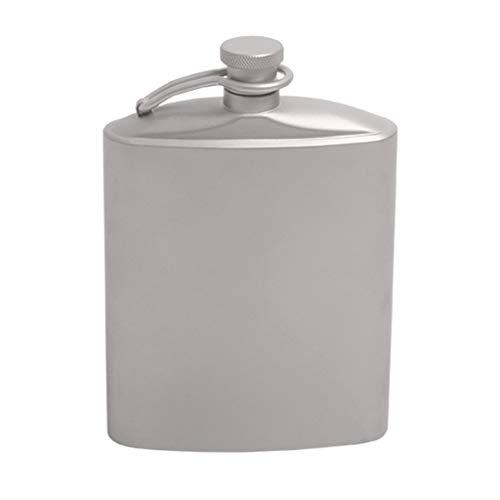 Sharplace Flasque Portable Unisexe en Titane Bouteille de Poche pour Camping, Pique-Nique