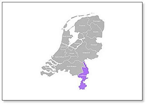Illustratie van de Nederlandse provincies. Administratieve afdeling - Limburg. Koelkast Magneet