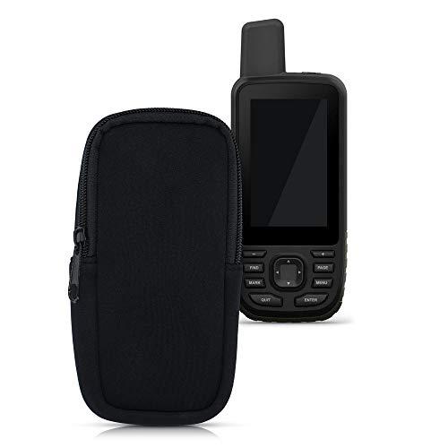 kwmobile Funda Blanda Compatible con Garmin GPSMAP 66s / 66st / 66i - Estuche Protector de Neopreno con Cierre - Negro