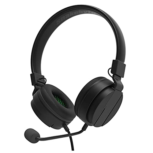 Snakebyte Xbox Headset Sx - Black/Green - Xbox Series Sx Stereo Gaming headphones, 40Mm audio Driver, detachable Microphone, Padded Headphones, 3, 5Mm Jack, Compatible