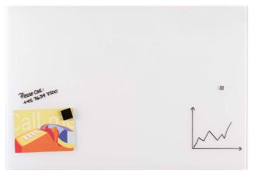 Franken GT608009 Magnetische Schreibtafel aus Glas, 60 x 80 cm, weiß