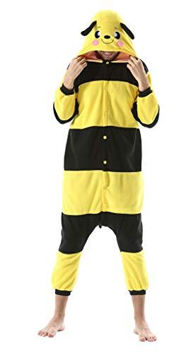 Adultos Animal Pijamas Cosplay Animales de Vestuario Ropa de Dormir Halloween y Carnaval Disfraces Abeja Amarilla XL