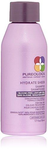Pureology Hydrate Sheer Nourishing Shampoo   For Fine, Dry Color Treated Hair   Vegan   1.7 oz.