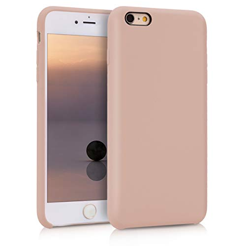 kwmobile Cover Compatibile con Apple iPhone 6 Plus / 6S Plus - Custodia in Silicone TPU - Back Case Protezione Cellulare Rosa Antico