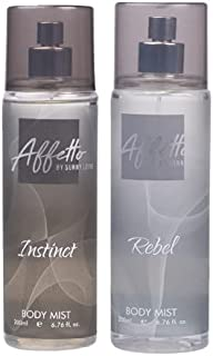 Affetto By Sunny Leone Instinct & Rebel Body Mist - For Women 200ML Each (400ML, Pack of 2)