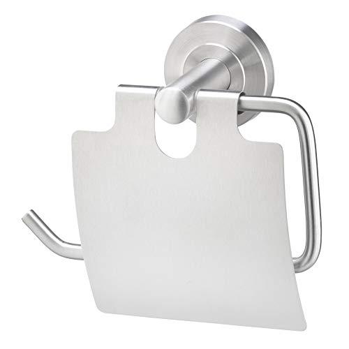 AMARE Toilettenpapierhalter mit Deckel, Klopapierrollenhalter, Papierrollenhalter, Toilettenpapierrollenhalter  WC Papierhalter , kleben oder bohren