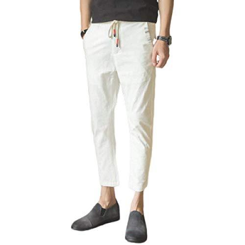 Katenyl Pantalones Cortos Ajustados a la Moda para Hombre Moda Sencillez Casual Todo-fósforo Negocios Pantalones básicos cómodos con cordón XXL
