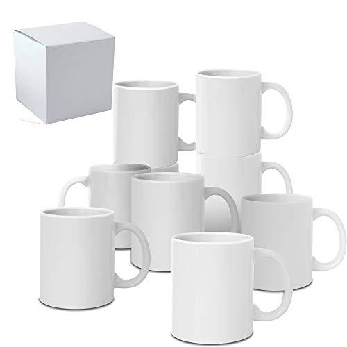 36 PCS Mugs 11 OZ Sublimation Mugs Blank White Mugs Coated Ceramic Cups Christmas DIY Mugs