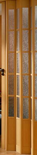 Falttür MARLEY President mit Fenster B 86 x H 205 cm Fb. buchefarben mit Schloss