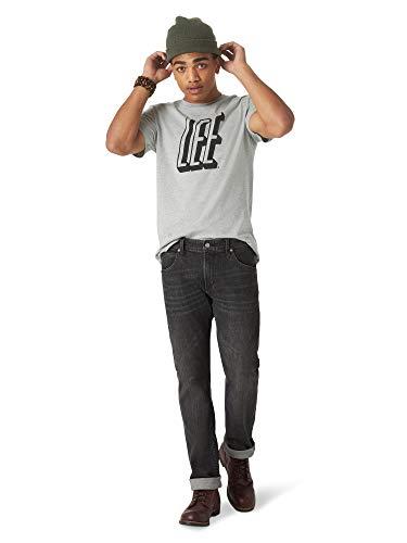Lee Men's Slim Straight Jean, Black, 36W x 32L