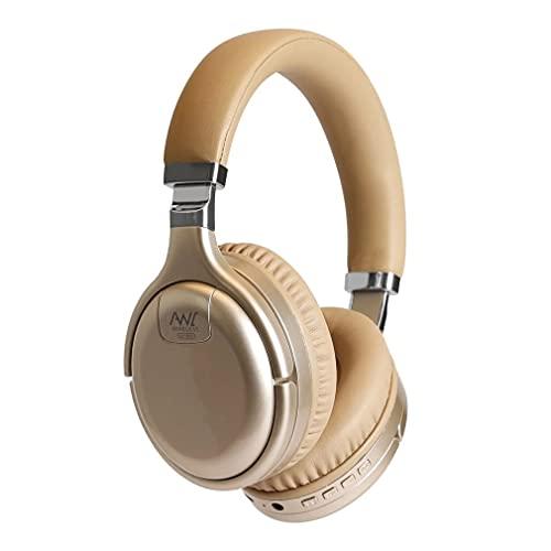 SeniorMar-UK Auriculares con cancelación Activa de Ruido Auriculares de Casco con Adaptador de TV USB 3.5 Auriculares inalámbricos de Graves Profundos