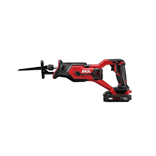 Skil 20V Compact Reciprocating Saw, Includes 2.0Ah PWRCore 20 Lithium Battery and Charger - RS5829-10