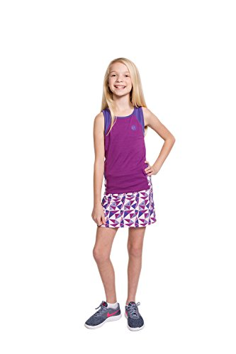 Street Tennis Club Girls Tennis & Golf Tank and Skirt Set with Built in Shorts Sparkaling Grape/Purple Size M