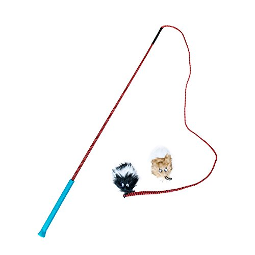 Outward Hound Tail Teaser Durable Dog Wand with Soft Plush Toys