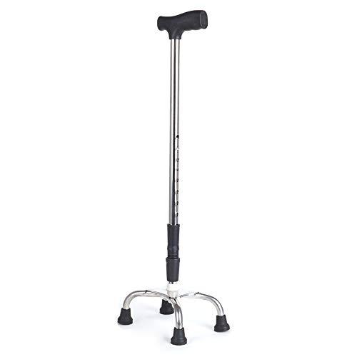 LANGYINH wandelstok stok, zitten te staan wandelaar, verstelbare hoogte Quad Riet voor vaders moeders geschenken, houdt tot 660 pond