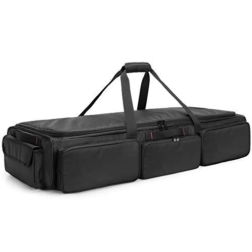 SAMDEW Underseat Storage Bag Fit for SuperCrew Cab, Truck Under Seat Organizer with 4 Detachable Inner Dividers & Anti-slip Bottom for Full Size Trucks, Black