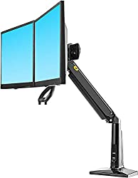 "NB North Bayou Ergonomics Interactive Dual Desk Monitor Mount Fits 22""-27"" Double Screens with Load 13.2 to 26.4 lbs(Black)"