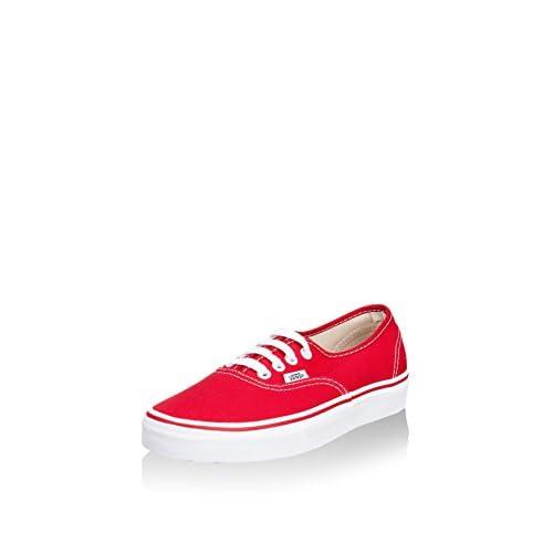 VANS UA Authentic, Sneaker Unisex-Adulto, Rosso (Red), 38 EU