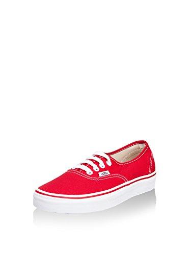 Vans Authentic, Zapatillas de Tela Unisex, Rojo (Red), 42 EU, Rojo (Red), 42 EU