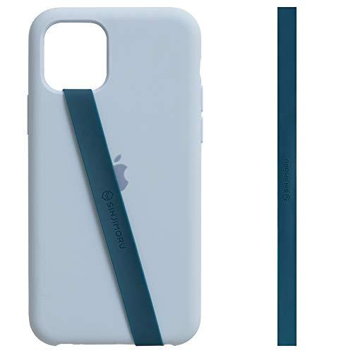 Sinjimoru Elastischer Silikon Handy Halter für Finger, Handy Halterung für Handyhülle, Handy Fingerhalter, Fingerhalterung Handy, Phone Strap für iPhone & Android, Sinji Loop. (Blau)