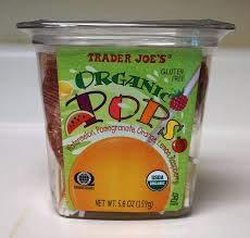 Trader Joe#039s Organic Pops Lollipops Gluten Free 56 oz Case of 4