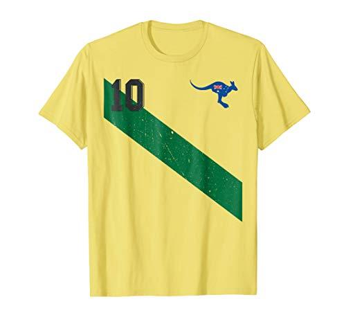 Vintage Australia Soccer Jersey Aussie T-Shirt 10 with Sash