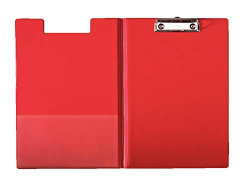 Esselte Carpeta con pinza y tapa, Capacidad para 200 hojas A4, Rojo, 56043