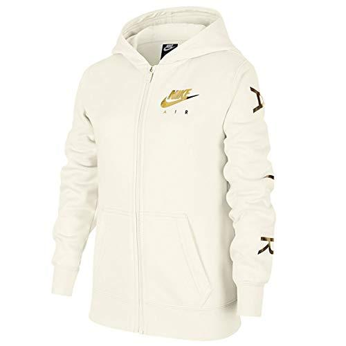 Nike Air Fleece Sweatjacke Mädchen Kinder sail/metallic Gold, Größe:S