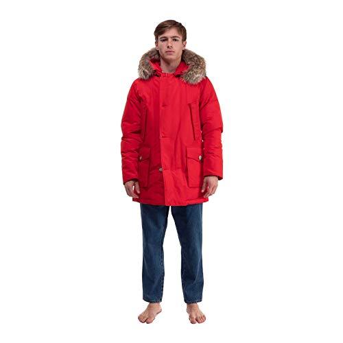 WOOLRICH Jacke mit 4 Taschen Arctic Parka DF Rot Baumwolle Herren, Parka, Rot XS