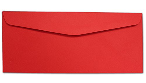 Red #10 Envelopes - 100 Envelopes - Desktop Publishing Supplies Brand Envelopes